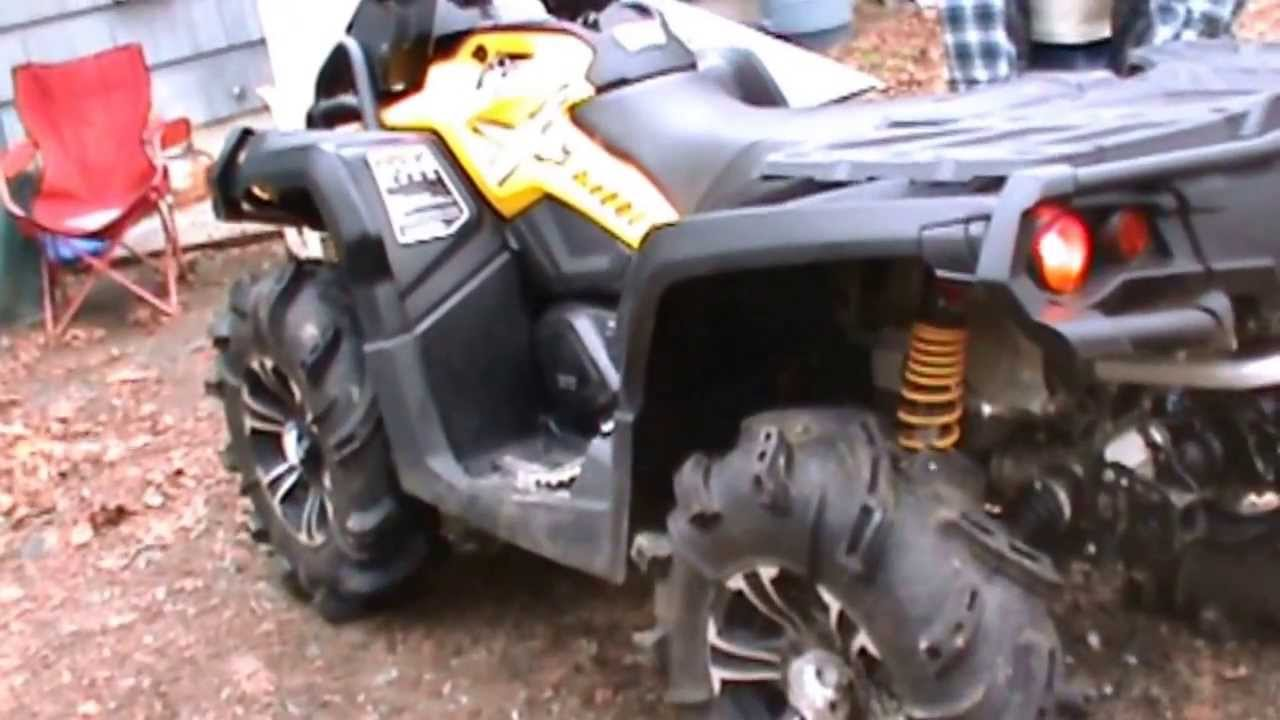 Can Am Outlander 1000 Xmr >> 2013 Can Am Outlander XMR 1000 Looney Tuned Exhaust - YouTube