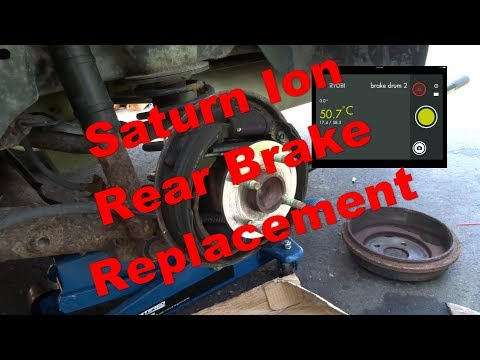Saturn Ion Rear Brake Replacement 2003 to 2007