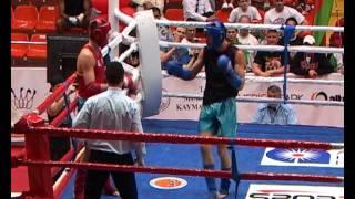 2011.04.27 A 81 kg 1/4 final Artem Levin (Russia) vs Dzmitry Abdullin (Belarus)