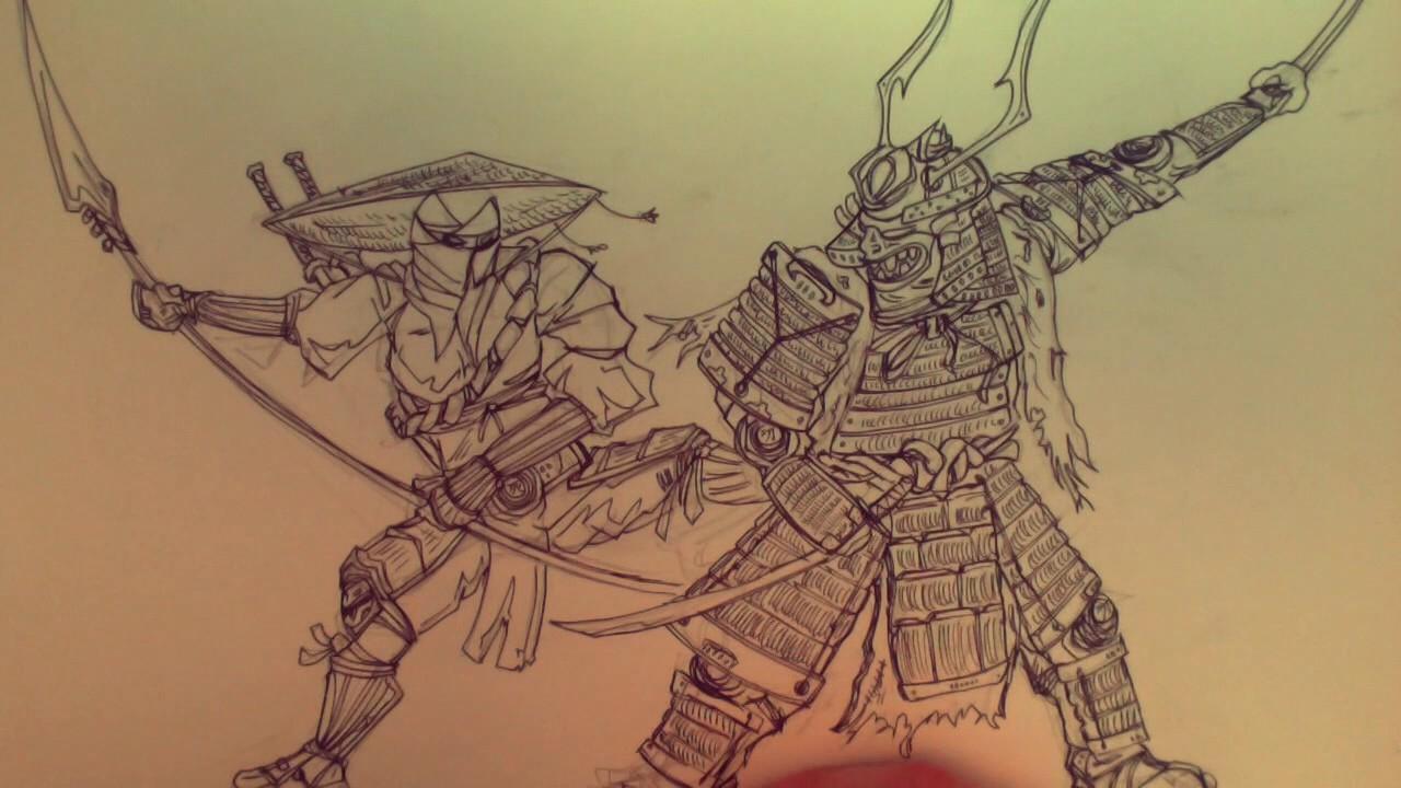 Comment Dessiner Un Samurai Et Un Ninja Youtube