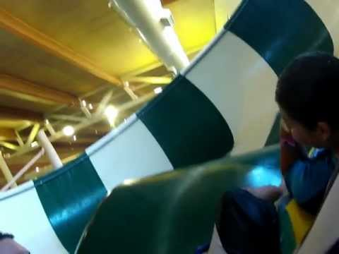 GoPro on waterslide at Great Wolf Lodge in Grapevine Tx