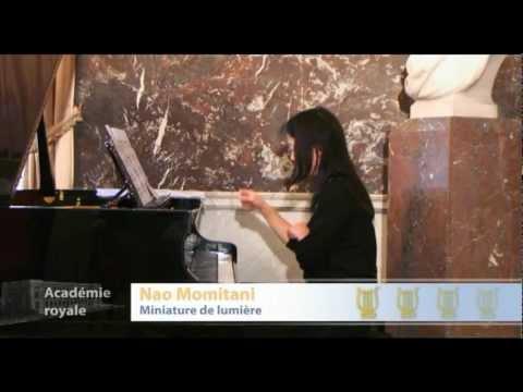 Claude LEDOUX : Miniature de Lumiere (Hommage à Henri Pousseur) - Nao MOMITANI, piano