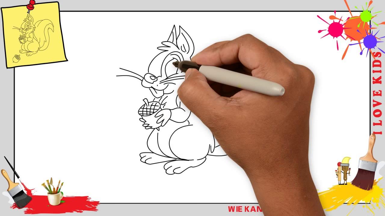 Eichhörnchen Zeichnen Für Anfänger Kinder Zeichnen Lernen Youtube