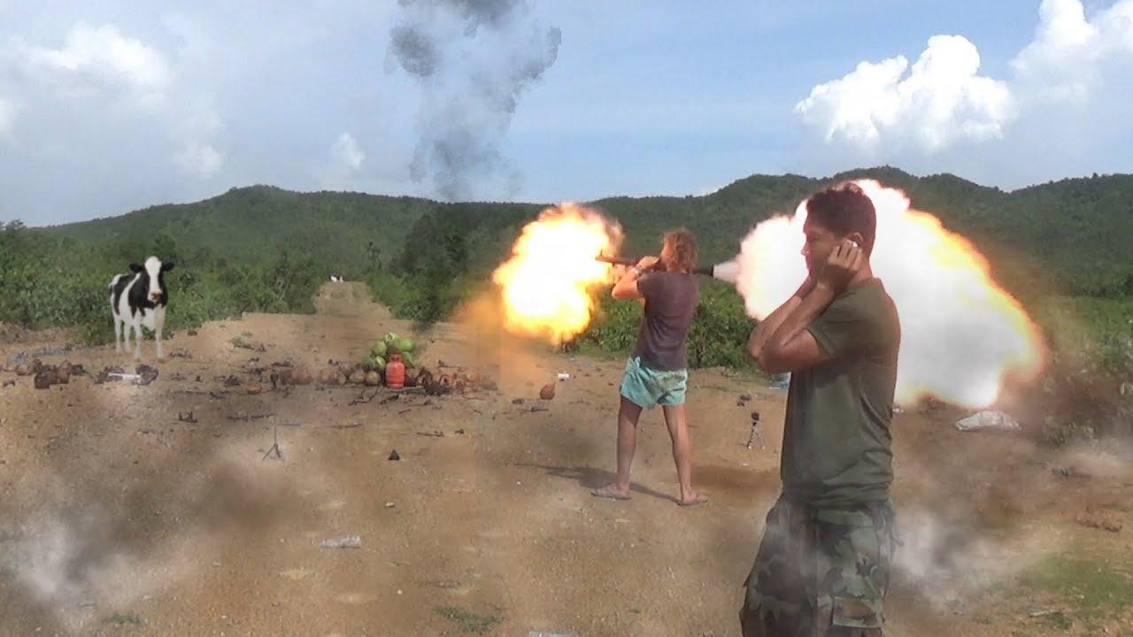 Cambodian Shooting Range - Naked Rocketlauncher