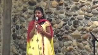 Samriddhi singing Goonji Si Hai Saari Fiza