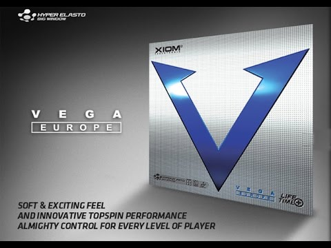 Xiom Vega Europe Table Tennis PingPong Rubber unboxing and review