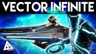 Destiny EV-34 Vector Infinite Sparrow Gameplay | Refer A Friend Tron Sparrow