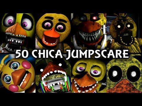 50 CHICA JUMPSCARES! | FNAF & Fangame