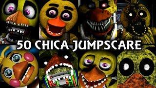 50 chica jumpscares   fnaf fangame