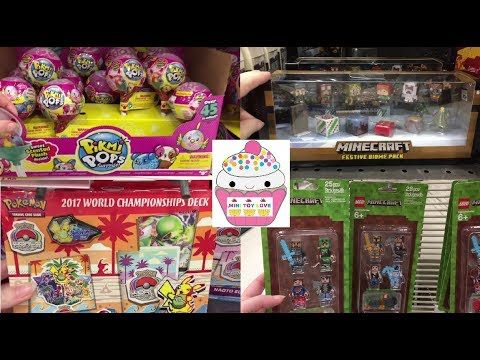 Toy Hunt #111 Minecraft Pikmi Pops Pokemon Squish Dee-Lish Barbie FNAF Hatchimals