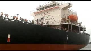 Peluncuran Kapal Milik Pertamina di Galangan Kapal PT. Daya Radar Utama Lamongan