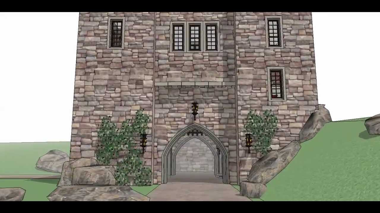 Architectural designs castle house plan 44109td youtube for Castle house designs