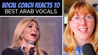 Vocal Coach Reacts to Best Arab Singing