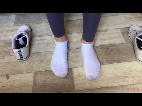 Nude girls wearing white ankle socks