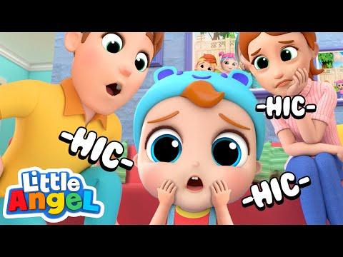 Oh No! Baby John Got Hiccups! | Little Angel Kids Songs & Nursery Rhymes