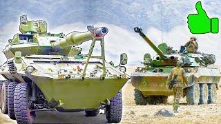 7 лучших КОЛЁСНЫХ ТАНКОВ ⭐ Мобильная мощь в деле : Centauro, Stryker и AMX-10RCR. Кто круче?