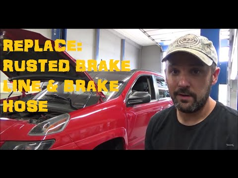 Replace Brake Line &  Brake Hose : Pontiac Aztec