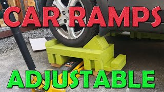 ADJUSTABLE WOODEN CAR RAMPS