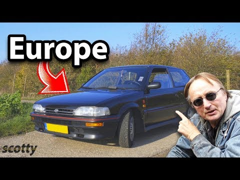 Here's What Toyotas are Like in Europe, Toyota Corolla AE92