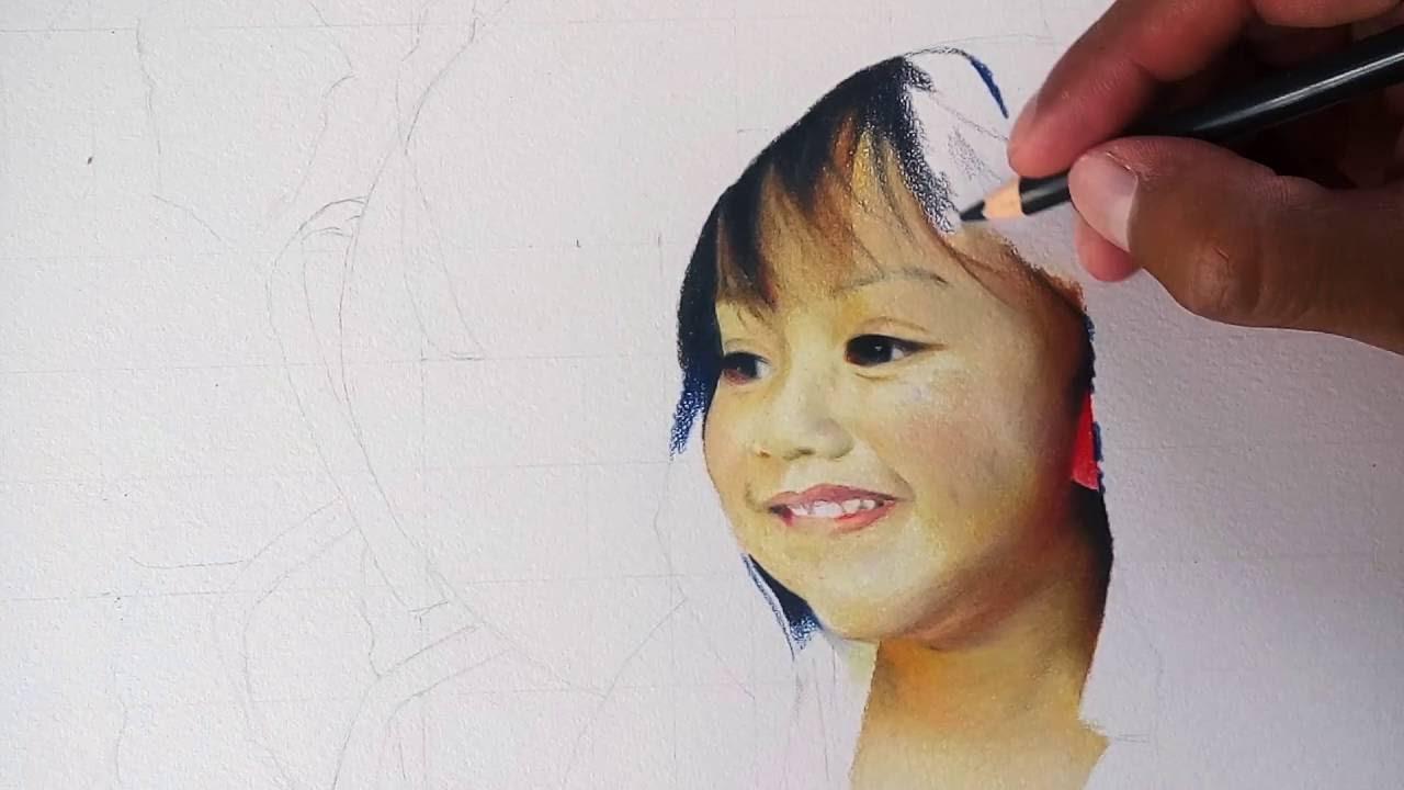 Drawing DIBUJO hiperrealista con lpices de colores