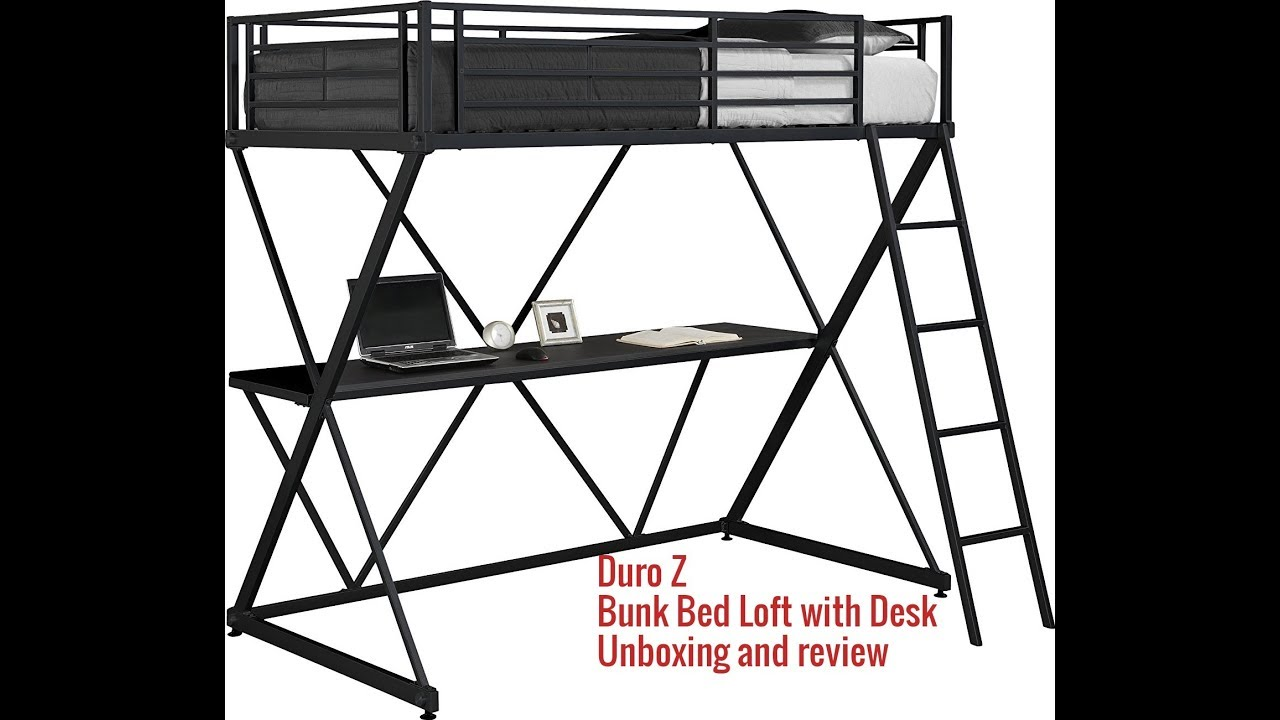 Duro Z Bunk Bed Loft With Desk Unboxing And Review Youtube