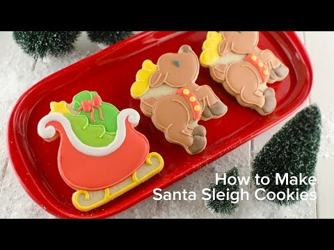 How To Make Santa Sleigh Cookies Youtube