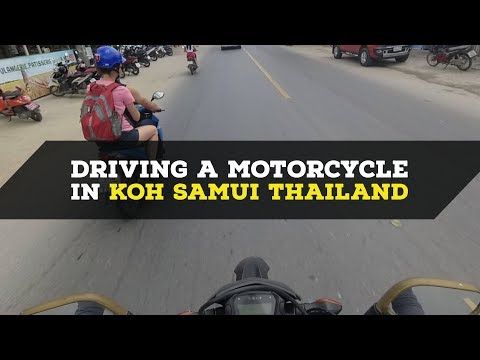 Driving a Motorcycle in Koh Samui Thailand + Underground Hip-Hop Soundtrack