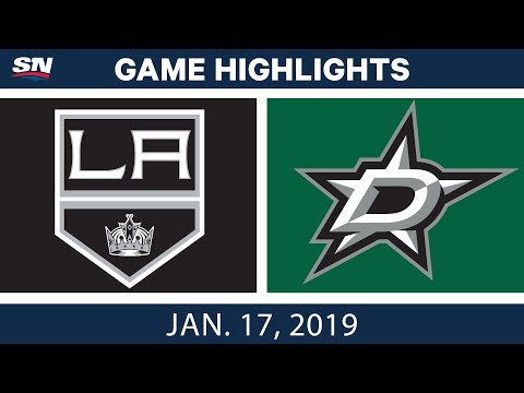 NHL Highlights | Kings vs. Stars - Jan. 17, 2019
