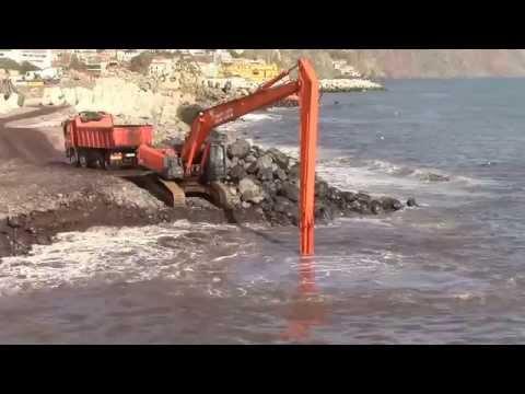 Heavy equipment in the ocean!!!