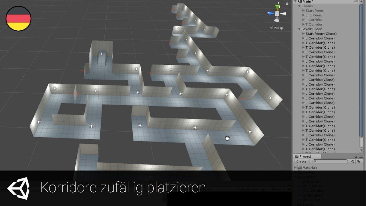 [Unity] Random Level Generator #05 - Korridore zufällig platzieren