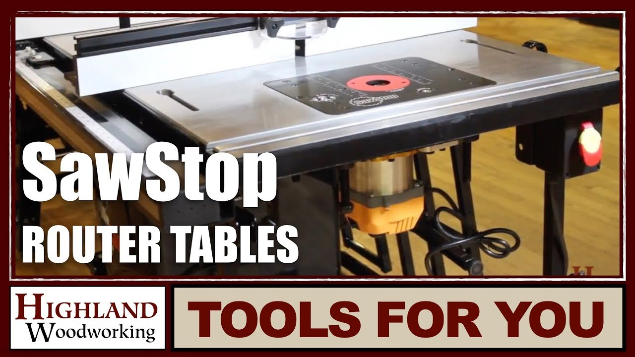 Sawstop Router Tables Youtube