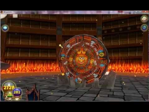 W101 Wizard101 Azteca Level 88 Celestial Calendar Myth Spell Test