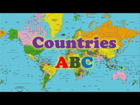 Страны в алфавитном порядке на английском языке.