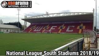 Vanarama National League South Stadiums 2018/19