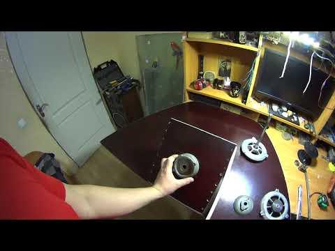 Рулевое управление на лодку рулевая коробка и основание лебедки из металлолома.
