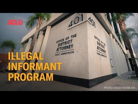 Illegal Jailhouse Informant Program