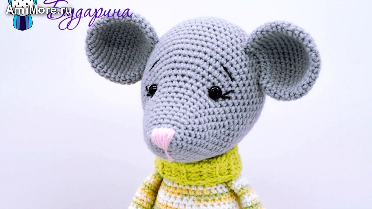 Амигуруми: схема Мышонок в свитере. Игрушки вязаные крючком - Free crochet patterns.