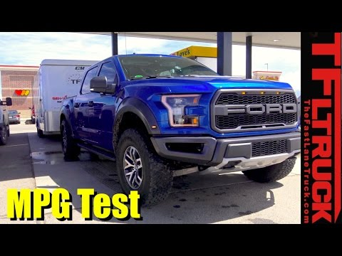 2017 Ford Raptor Highway Towing MPG Review with 7,000 Lbs Behind It