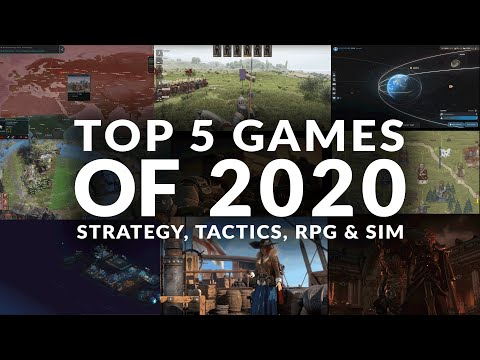 TOP 5 GAMES OF 2020 | STRATEGY, TACTICS, RPG & SIM (PC)