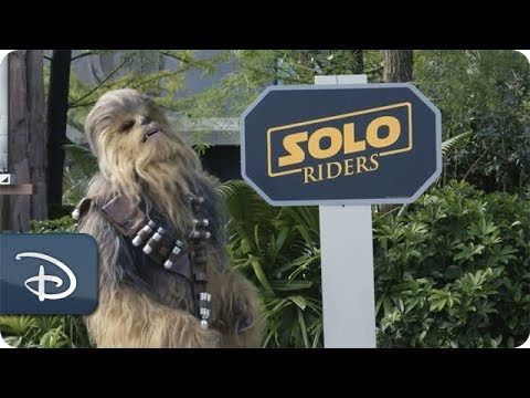 Chewbacca Flies by Disney's Hollywood Studios at Star Tours – The Adventures Continue