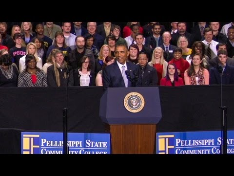 President Obama Speaks at Pellissippi State Community College