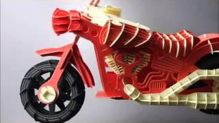 Laser Cut Motorcycle Paper Diy Kit