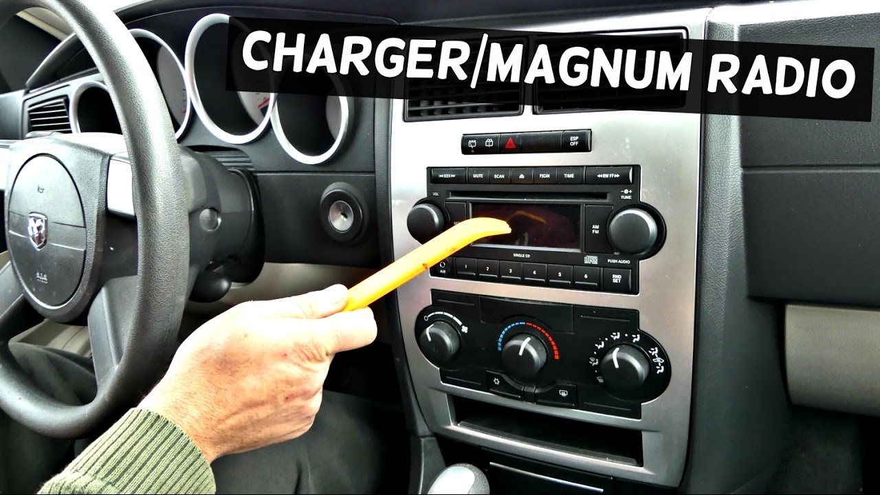 dodge charger radio replacement removal dodge magnum