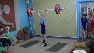 Отегов Степан, 12 лет, вк 34 Толчок 34 кг