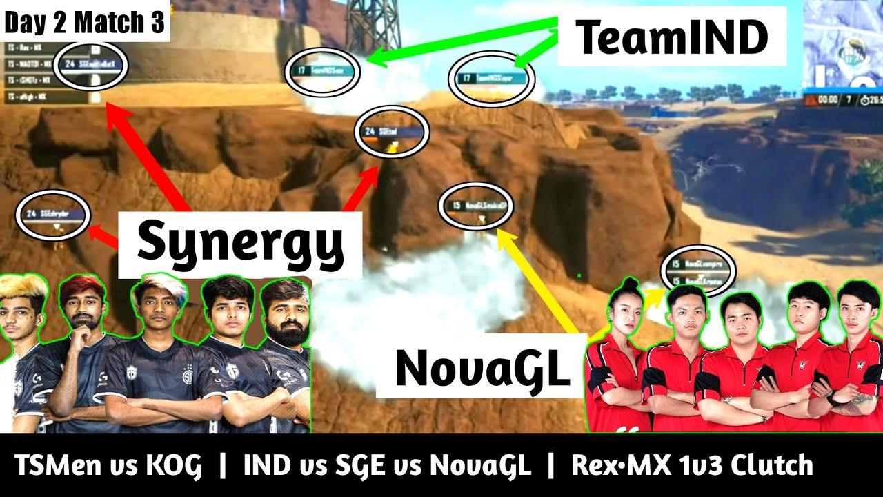 PMWL 2020  ||  TSMentity vs KOG  ||  4 Indian Teams in the last zone  ||  TS•Rex•MX 1v3 Clutch ||