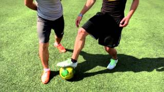 Pull back Tunnel/Nutmeg - Football/Soccer match Tricks and freestyle street Skills