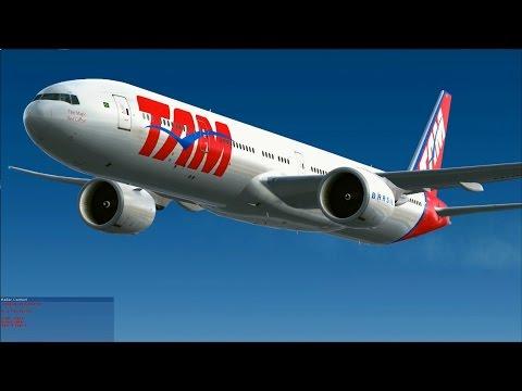 [FSX] TAM 777-300ER to Santiago