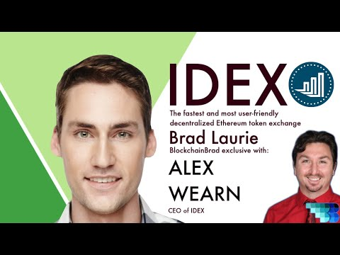 IDEX |  Decentralized Smart Contract Exchange | Alex Wearn | Crypto Interview | BlockchainBrad | DEX