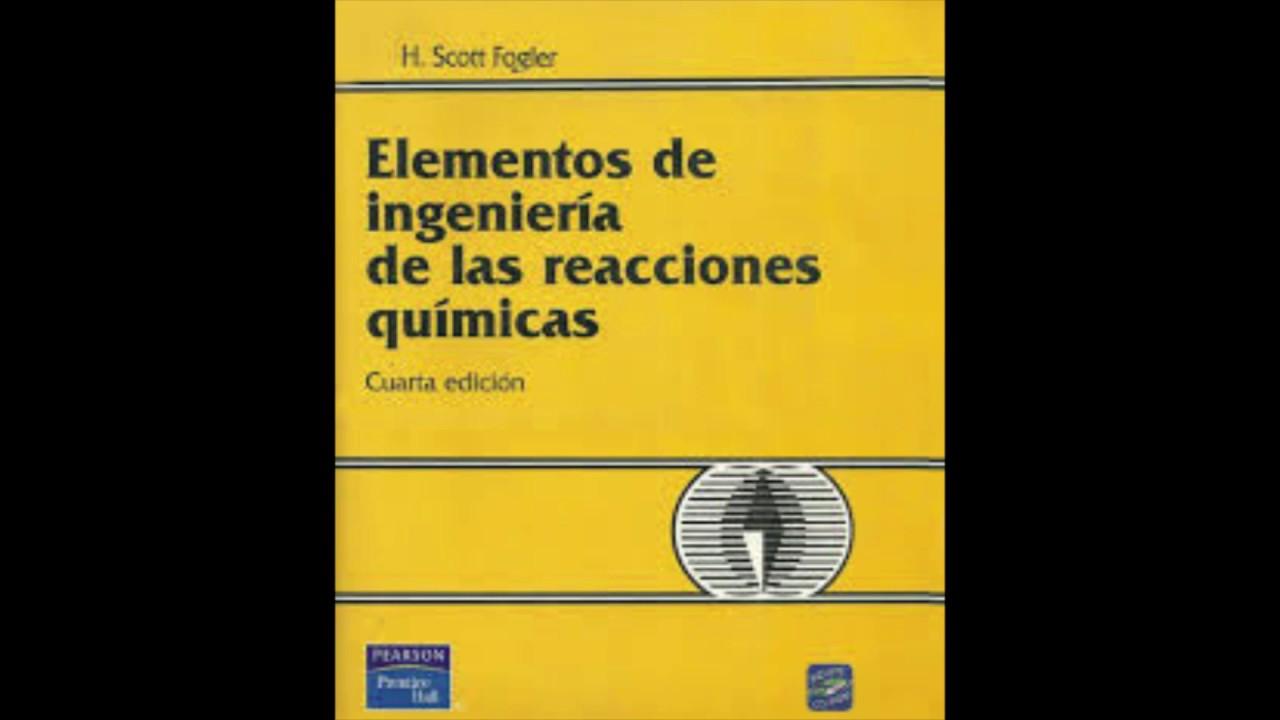 elementos de ingenieria de las reacciones quimicas fogler pdf