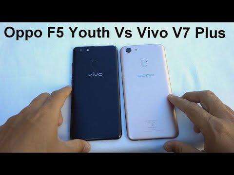 Oppo F5 Youth vs Vivo V7 Plus Speed Test, Camera, Fingerprint Comparison in  2018